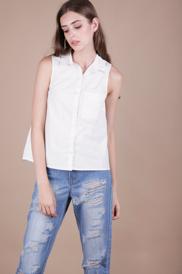 2d0651e45a 15 Amazing Ways to Wear Sleeveless Shirt for Women - FMag.com