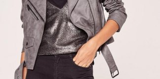 best grey leather jacket outfit ideas