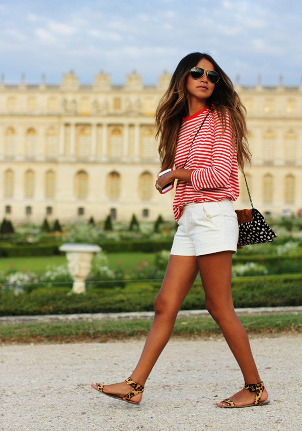 How to Style Red and White Striped Shirt: Outfit Ideas - FMag.com