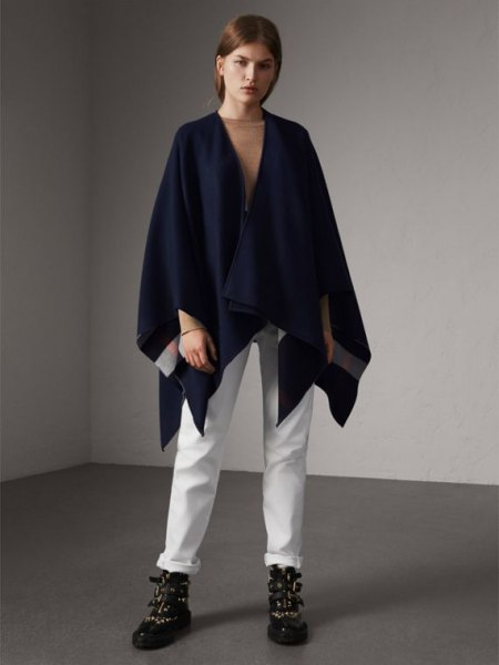 How To Wear Wool Poncho 15 Outfit Ideas For Women Fmag Com