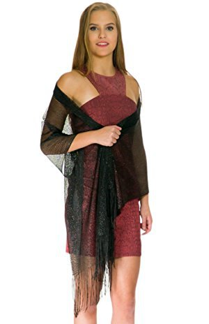 black sheer shawl grey halter neck mini dress