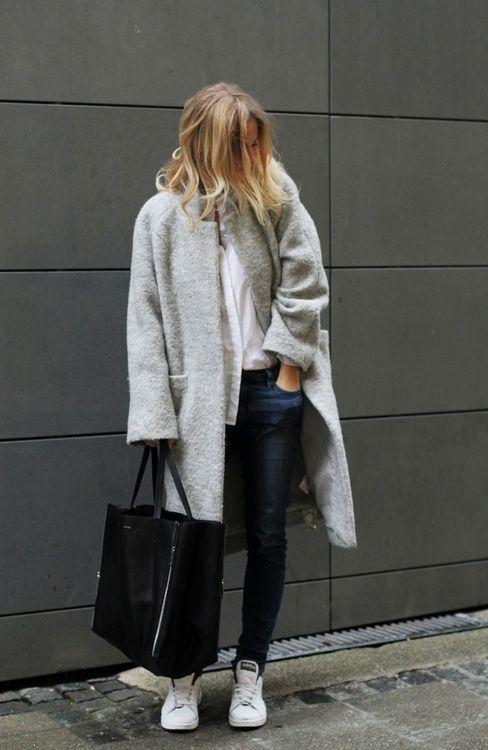 boucle coat aesthetics