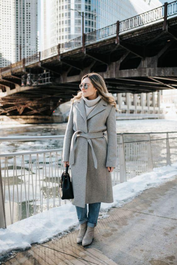 cashmere coat grey