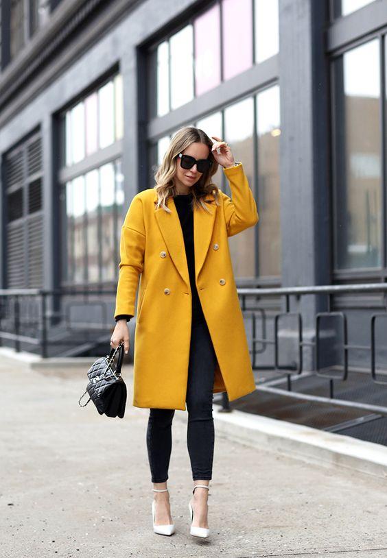 cashmere coat yellow
