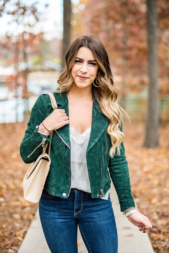 olive green jacket camisole