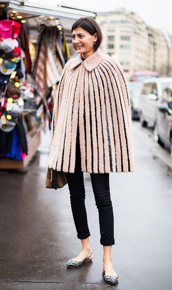 faux fur cape giovanna beige