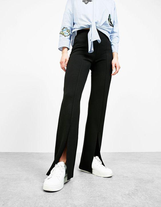flare leggings slits