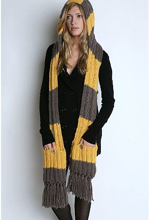 hooded scarf stripes