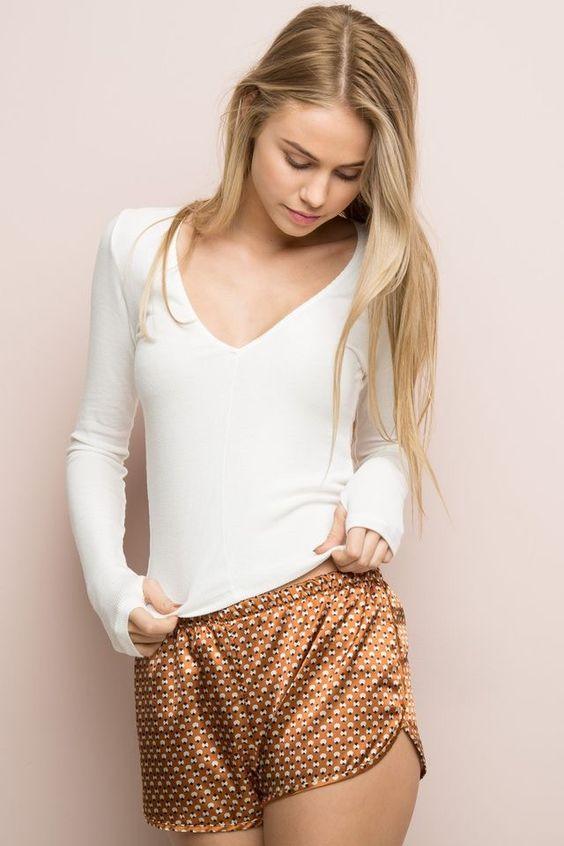 lisette shorts printed