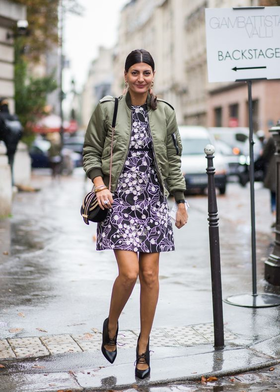 olive green jacket dress bomber