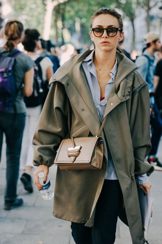 olive green jacket oversized
