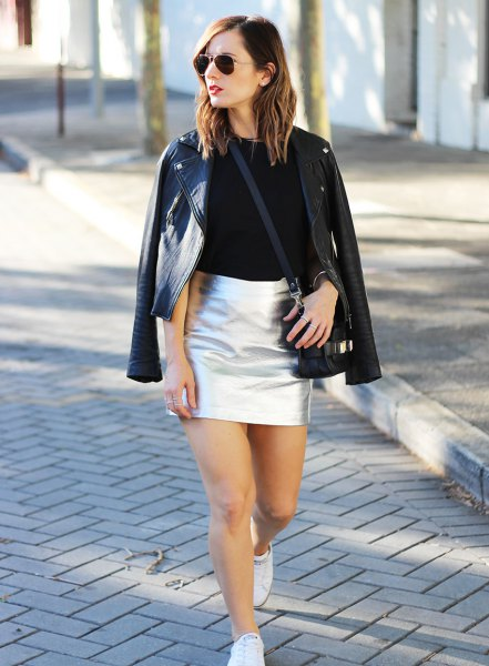How To Wear Silver Metallic Skirt 15 Stunning Outfit