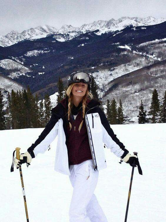 ski pants burgundy white