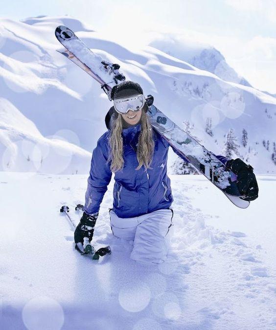 ski pants lilac