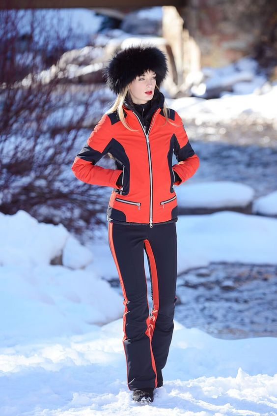 ski pants red