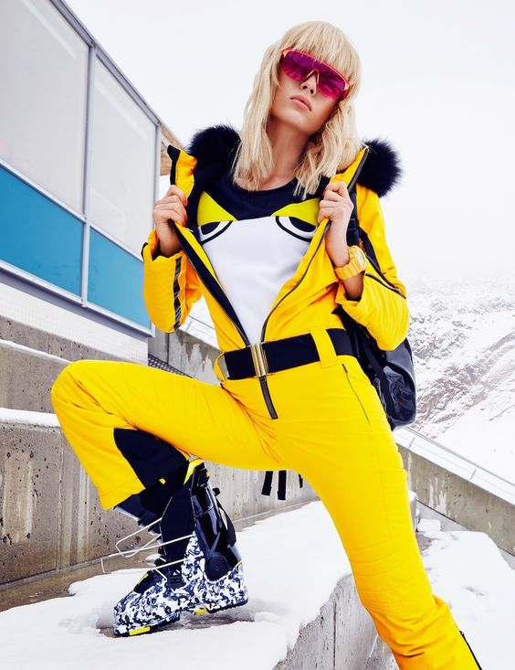 ski pants yellow