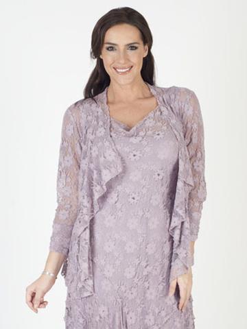 teal lace shrug matching midi dress