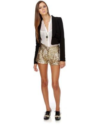 white chiffon blouse black blazer