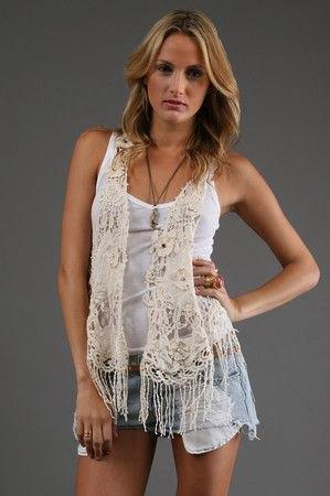 white lace vest camisole mini denim shorts