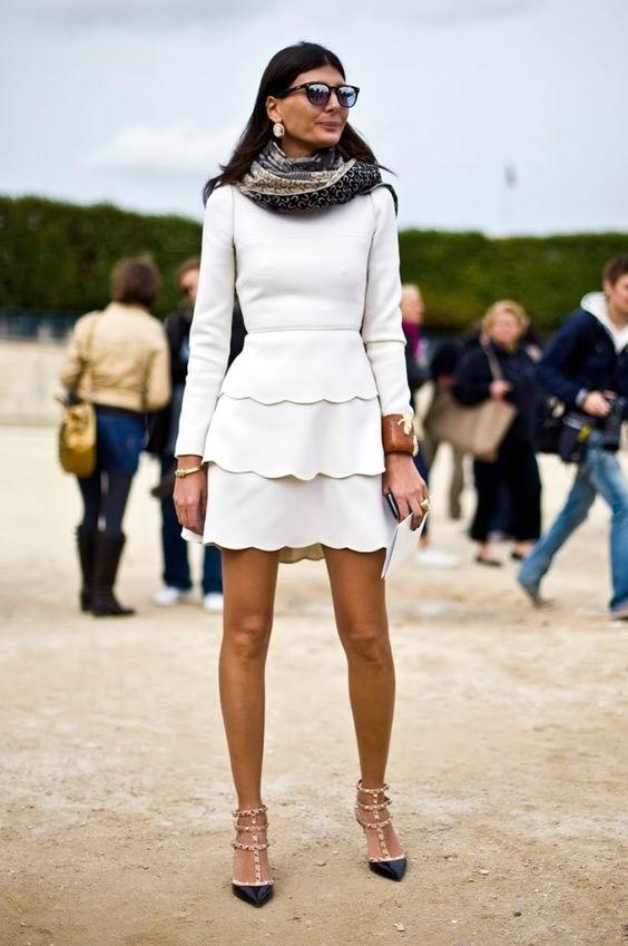 white scalloped dress giovanna