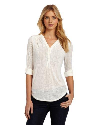 white semi sheer henley shirt black skinny jeans