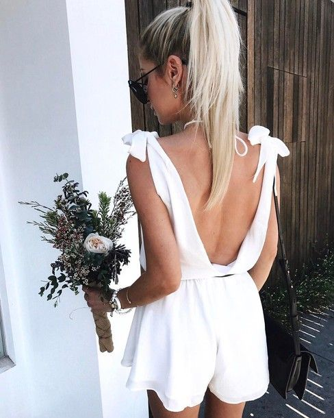 backless jumpsuit knot straps