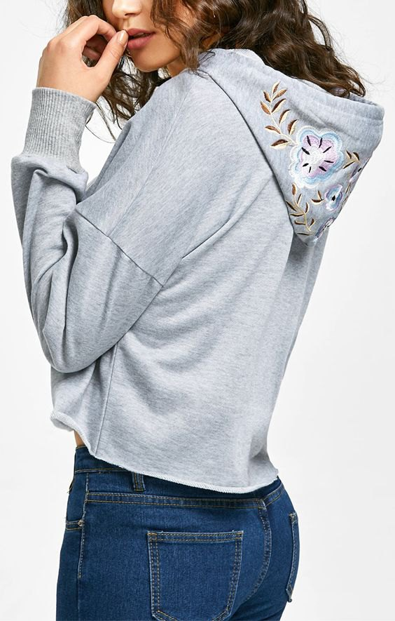 best embroidered hoodie outfit ideas