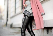 best pink wool coat outfit ideas