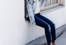 best embroidered denim jacket outfit ideas