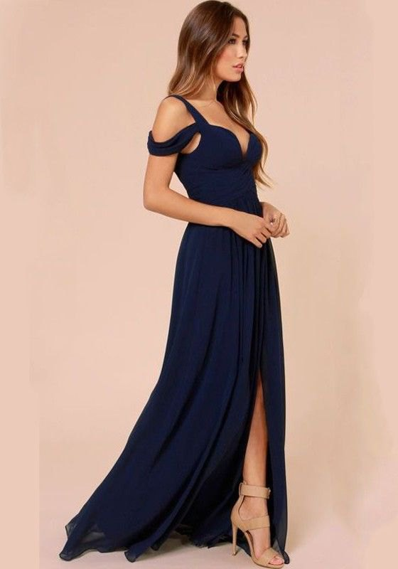 best plunging neckline dress outfit ideas