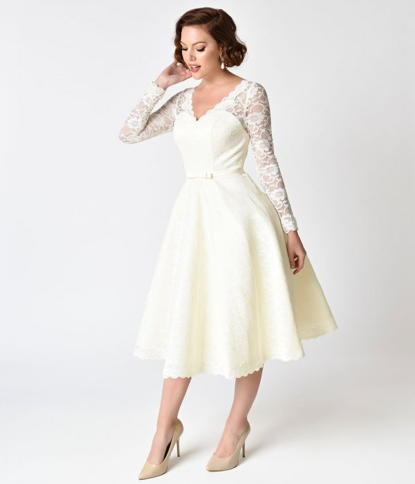 Old Wedding Dress Ideas: How To Wear 1950s Style Dress: 15 Vintage Outfit Ideas