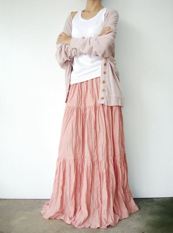 broomstick skirt pastel