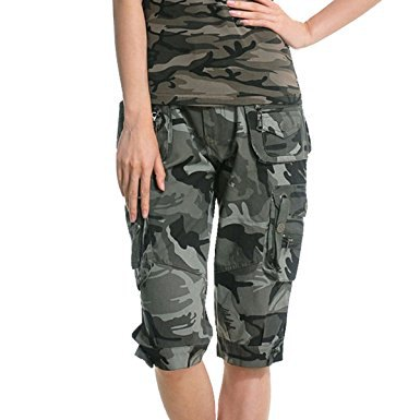 camo long cargo pants matching tank top