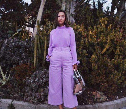 cropped wide leg pants lilac