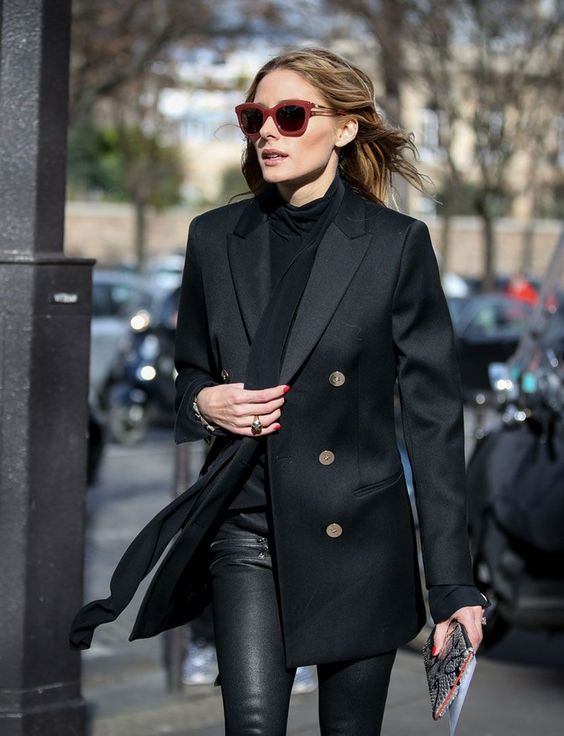 double breasted jacket all black