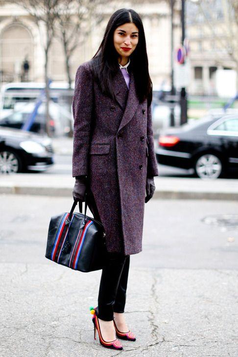 double breasted jacket dark purple