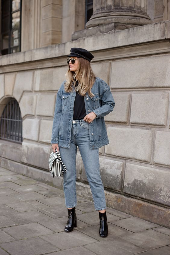greek fisherman hat double denim