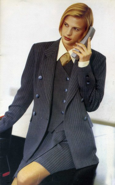 grey striped double breasted suit with shirt and vest