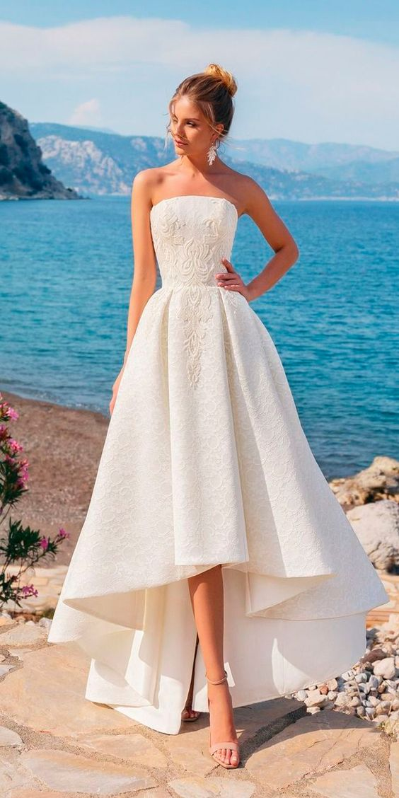 high low lace dress wedding