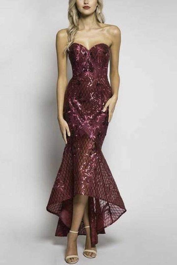 high low prom dress mermaid