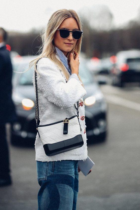 leather shoulder bag chanel