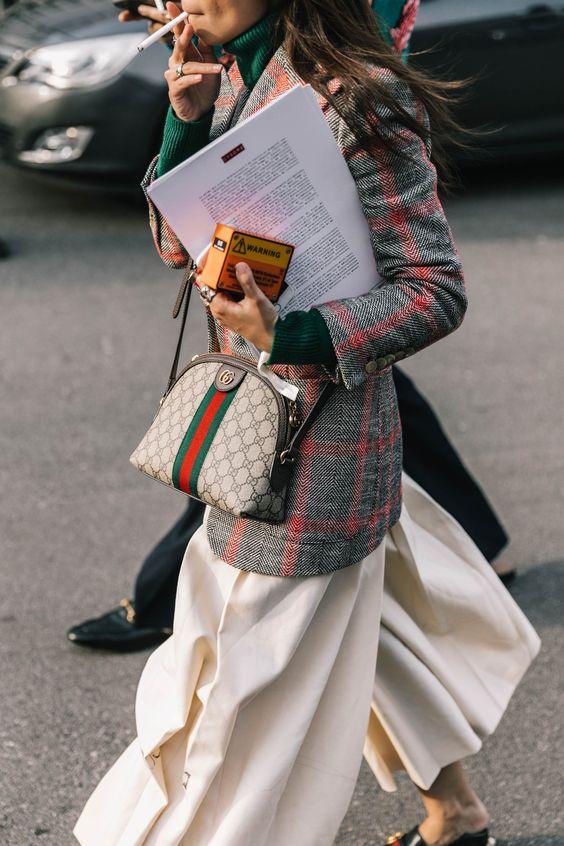 leather shoulder bag gucci pattern