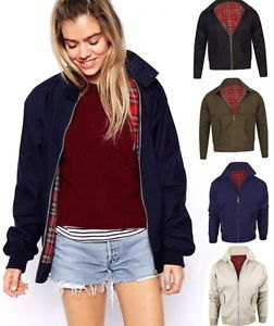 navy harrington jacket with burgundy sweater blue denim shorts