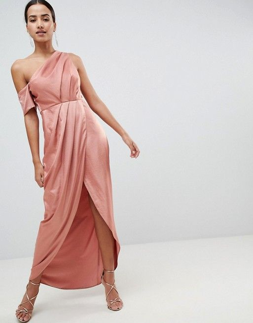 How To Wear One Shoulder Maxi Dress Outfit Ideas Fmag Com