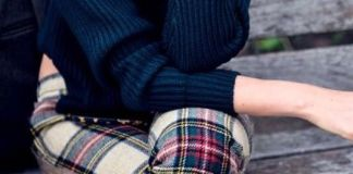 plaid leggings winter
