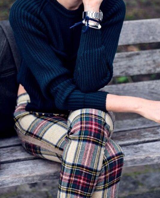 plaid leggings winter