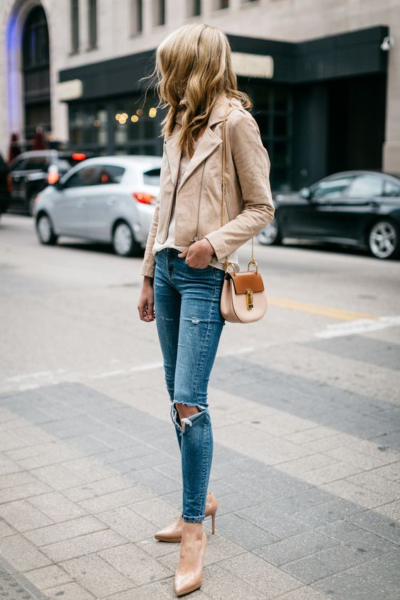 suede moto jacket matchy