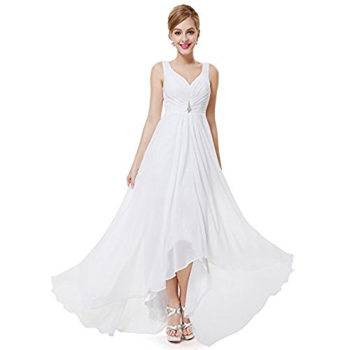 white floor length chiffon flared dress
