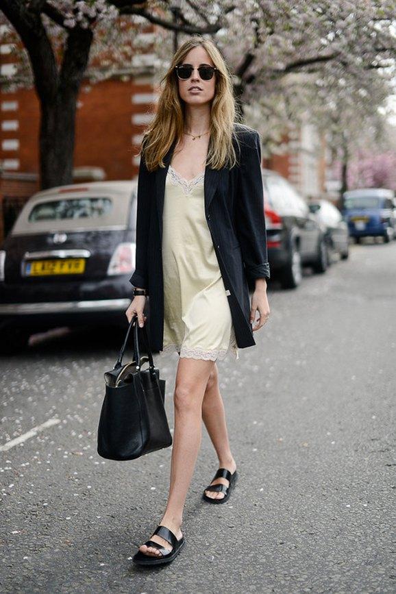 best silk slip dress outfit ideas