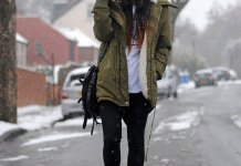 best fur lined parka coat outfit ideas